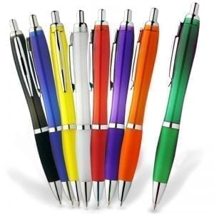 Pen Printing New York 11 Translucent Plastic Promotional Pen biro