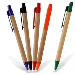 Eco Friendly Recycled Printed Promotional Pen biro