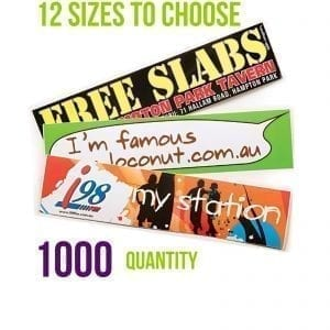 1000 x Gloss Paper Stickers – 12 Sizes – REDUCED address