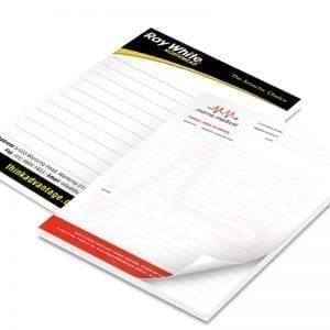 A5 size scribble notepad full colour printed promotional stationary
