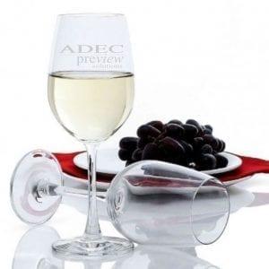 Drinkware Laser Engraved Premium 350ml Wine Glass champ