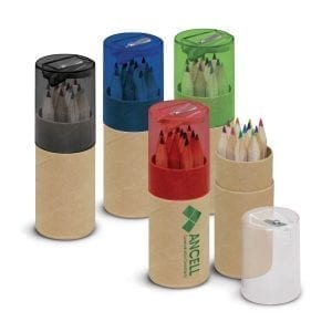 Coloured Pencil Tube assorted