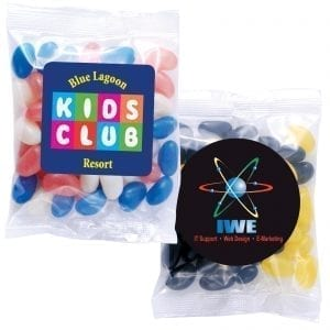 custom branded promotional jelly beans confectionery