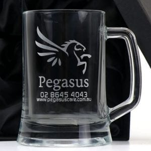 Drinkware 500ml Beer Tankard Mug with Handle Includes Engraving & Setup alcohol