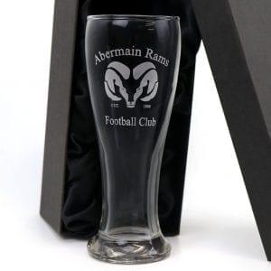 Drinkware 420ml Brasserie Schooner Glass Pub Style with Custom Logo Engraving champ