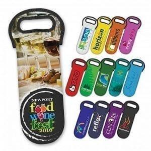 Neoprene Wine Cooler Bag with Full Colour Print bottle cooler