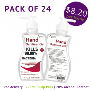 CLEARANCE 295ml Hand Sanitiser Pump Pack of 24 – IN STOCK antibacterial gel