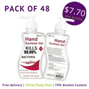 CLEARANCE 295ml Hand Sanitiser Pump Pack of 48 – IN STOCK antibacterial gel