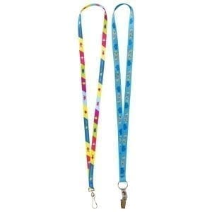 Festivals & Events 15mm Flat Polyester Full Colour Promotional Lanyard custom