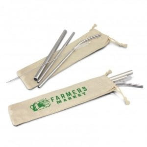 Eco Stainless Steel Straw Set bag