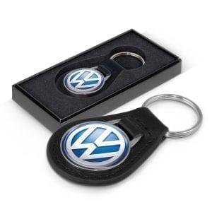 Automotive Baron Leather Key Ring – Round -