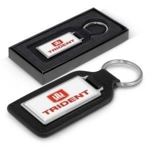Automotive Baron Leather Key Ring – Rectangle -