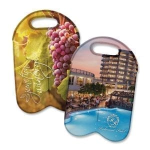 Cooler Bags Neoprene Double Wine Cooler Bag – Full Colour -