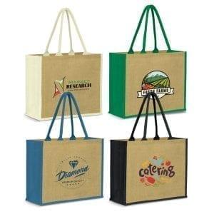 Eco Modena Jute Tote Bag bag