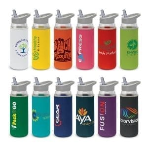 Drink Bottles Elixir Glass Bottle – Neoprene Sleeve -