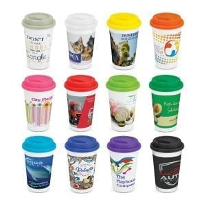 Coffee Cups Aztec Double Wall Coffee Cup – Full Colour -