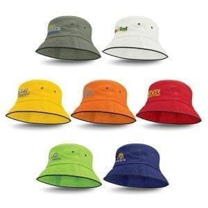 Bucket Hats Bondi Bucket Hat – Black Sandwich Trim -