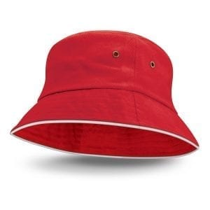 Bucket Hats Bondi Bucket Hat – White Sandwich Trim -