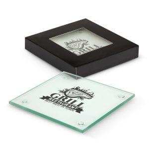 Coasters Venice Glass Coaster Set of 2 – Square -