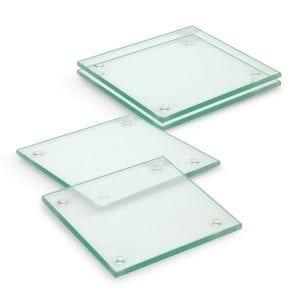 Coasters Venice Glass Coaster Set of 4 – Square -