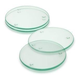 Coasters Venice Glass Coaster Set of 4 – Round -