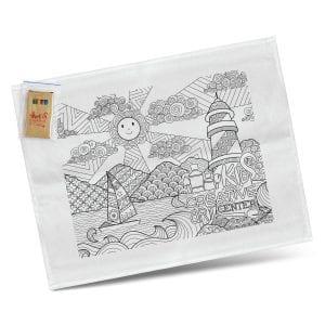 Children Cotton Colouring Tea Towel Colouring