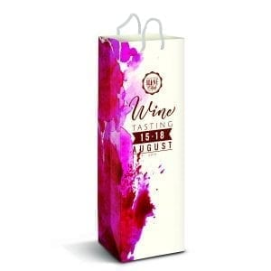 Gift Bags Laminated Paper Wine Bag – Full Colour -