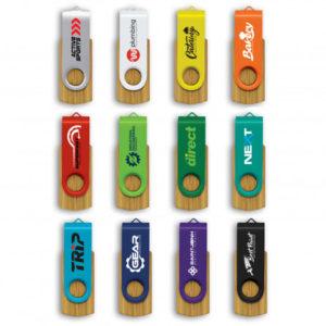 Flash Drives Helix 4GB Bamboo Flash Drive 4gb