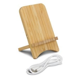 Conference Bamboo Wireless Charging Stand bamboo
