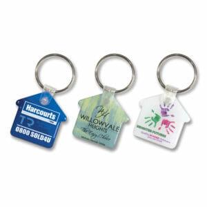 Key Rings Flexi Resin Key Ring – House -