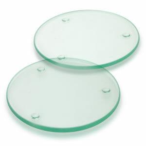 Coasters Venice Glass Coaster Set of 2 Round – Full Colour -